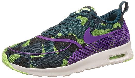 Women's Nike Wmns Air Max Thea JCRD PRM Teal Vivid Purple Ghost Green Sneakers : N77i5019