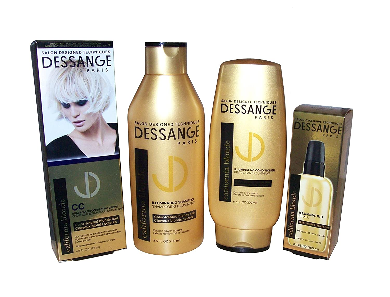 Amazon Dessange Paris California Blonde 4 Piece Bundle 85