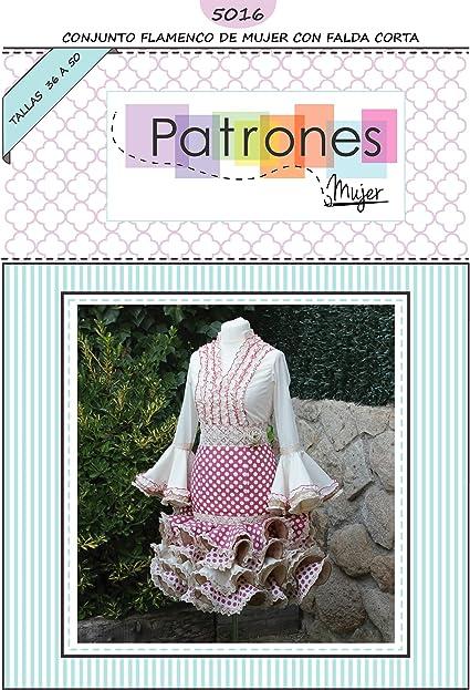 Patrón de costura conjunto flamenca mujer para hacerlo tú misma. Tutorial en vídeo para ayudarte a realizarlo. Talla 36 a la 50. Patrón multitalla en ...