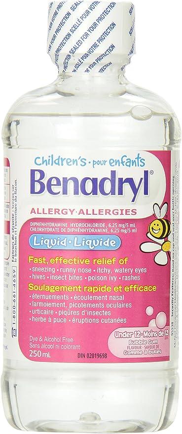 micción frecuente benadryl