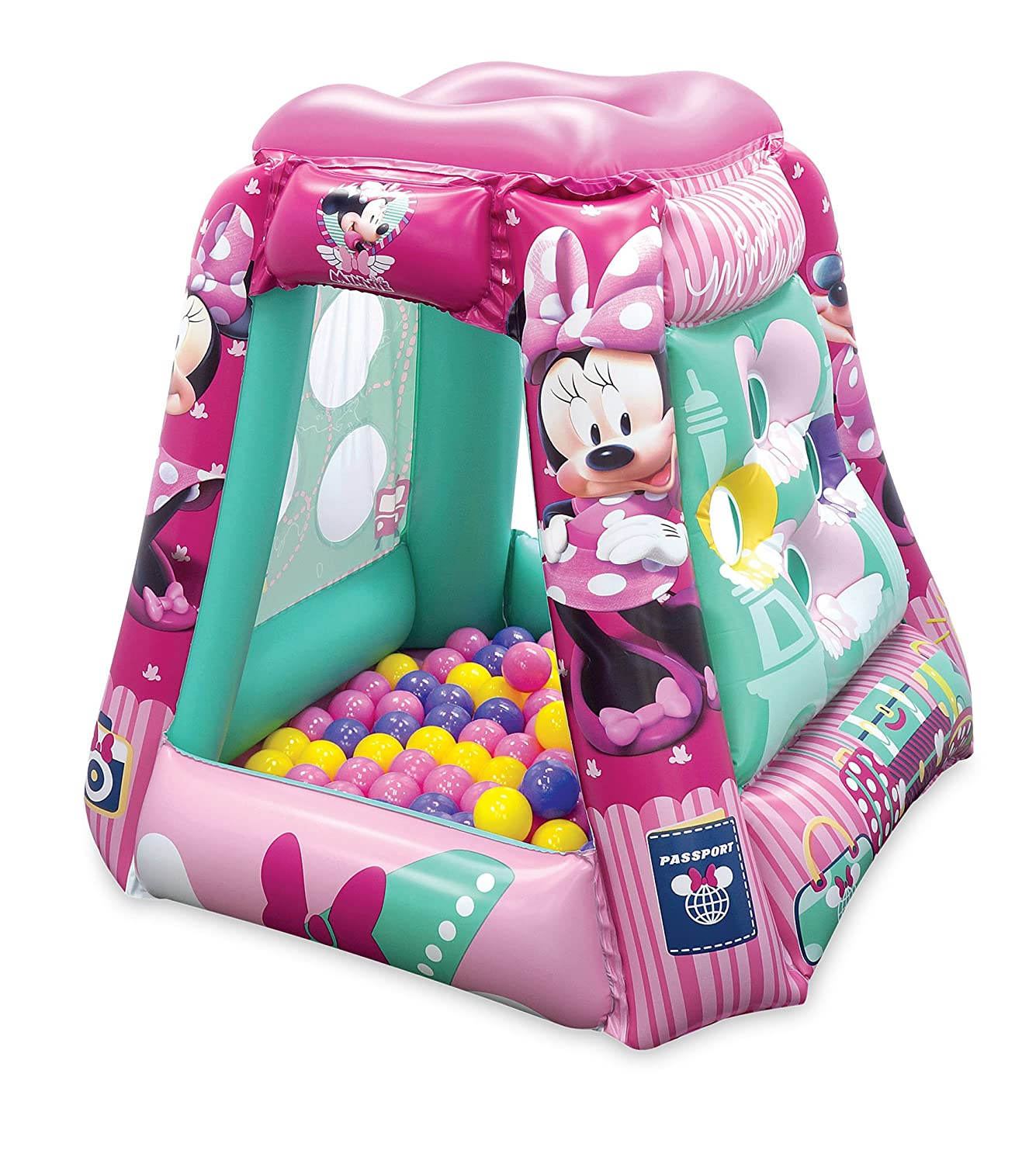 Amazon.com: Minnie Mouse Jet Setter Ball Pit, 1 Inflatable & 20 Sof ...