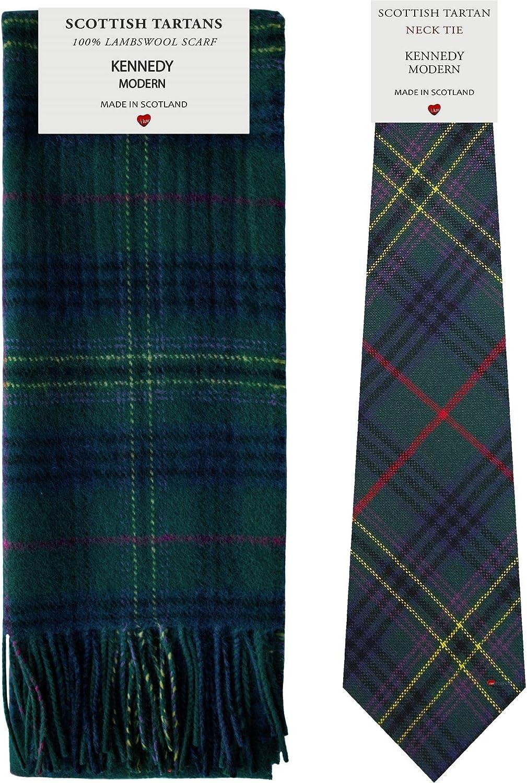 I Luv LTD Conjunto de regalo de bufanda y corbata de tartán a ...
