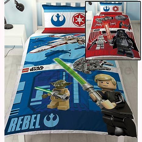 Lego Star Wars Kampf Einzel Bettwäsche Polybaumwolle Bettwäschegarnitur  Reversible Panel