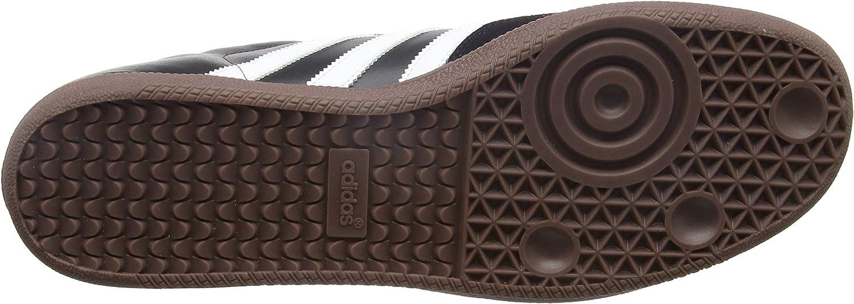 adidas Originals Samba, Baskets mode homme,  Blanc/Noir/Gomme Noir Black Running White