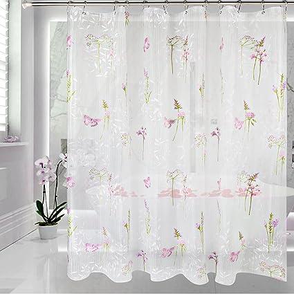 Amazon EVA Shower Curtain Liner With Metal Hooks MoldMildew