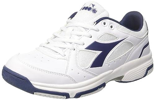 Diadora Volee Scarpe da Tennis Uomo Bianco Bianco Blu Estate 46 EU