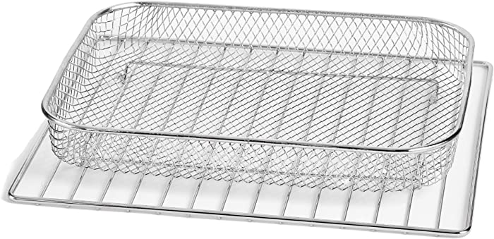 Dash DAFT2350UPAB01 Chef Series Air Fry Oven Basket Accessory, Standard, SS