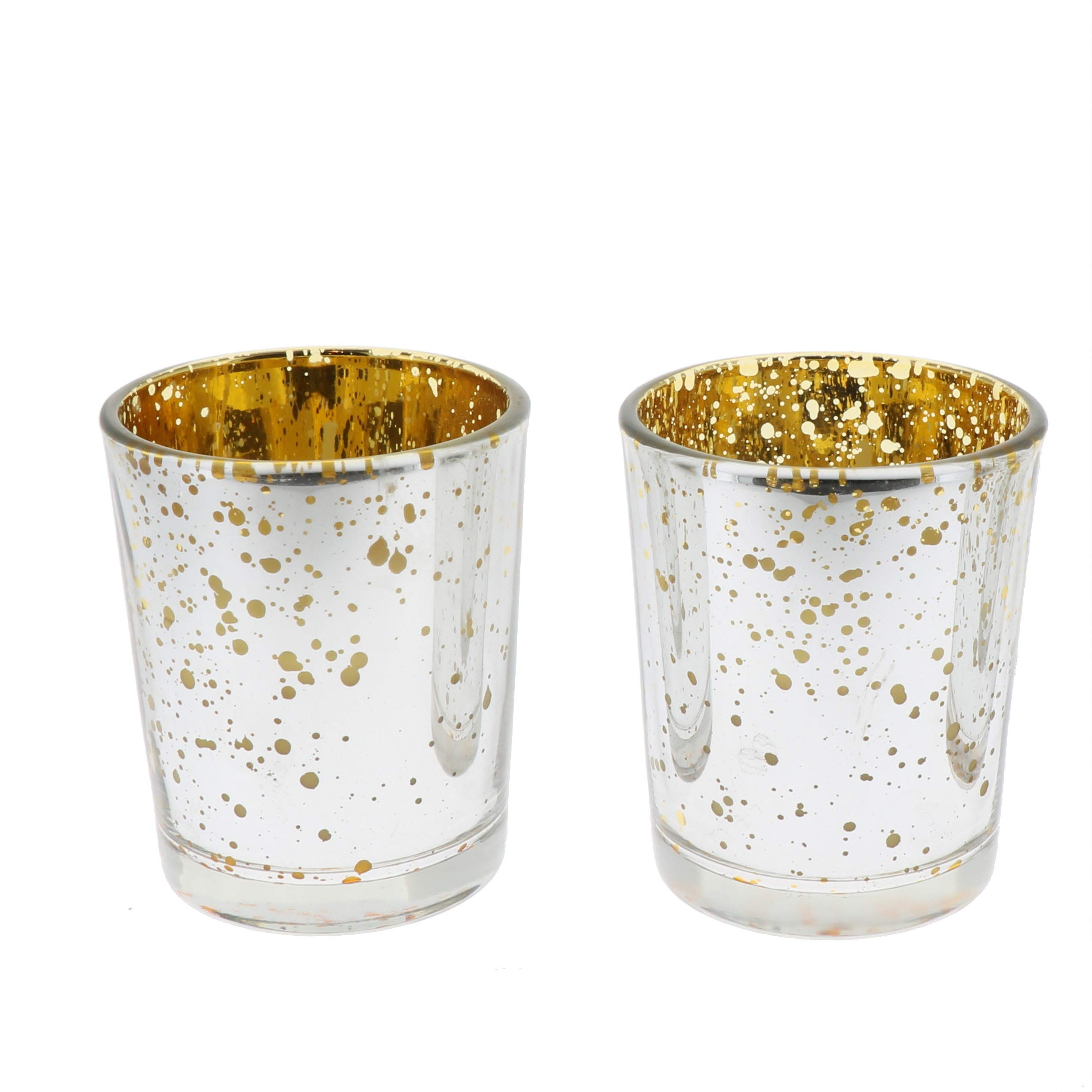 Michael Zohar Candles Mercury Glass Votive Candles   15 Hour   Silver   Filled   Set of 72 by Michael Zohar Candles