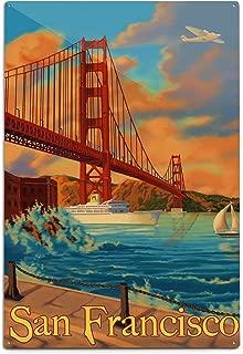 product image for Lantern Press San Francisco, California, Golden Gate Bridge (12x18 Aluminum Wall Sign, Wall Decor Ready to Hang)