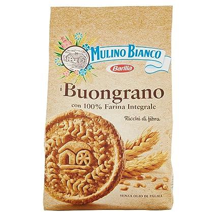 Mulino Bianco Biscotti Buongrano, Colazione Ricca di Fibre e Gusto , 350  gr Amazon.it Amazon Pantry