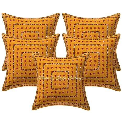 Amazon.com: Stylo Cultura, funda de almohada bordada de ...