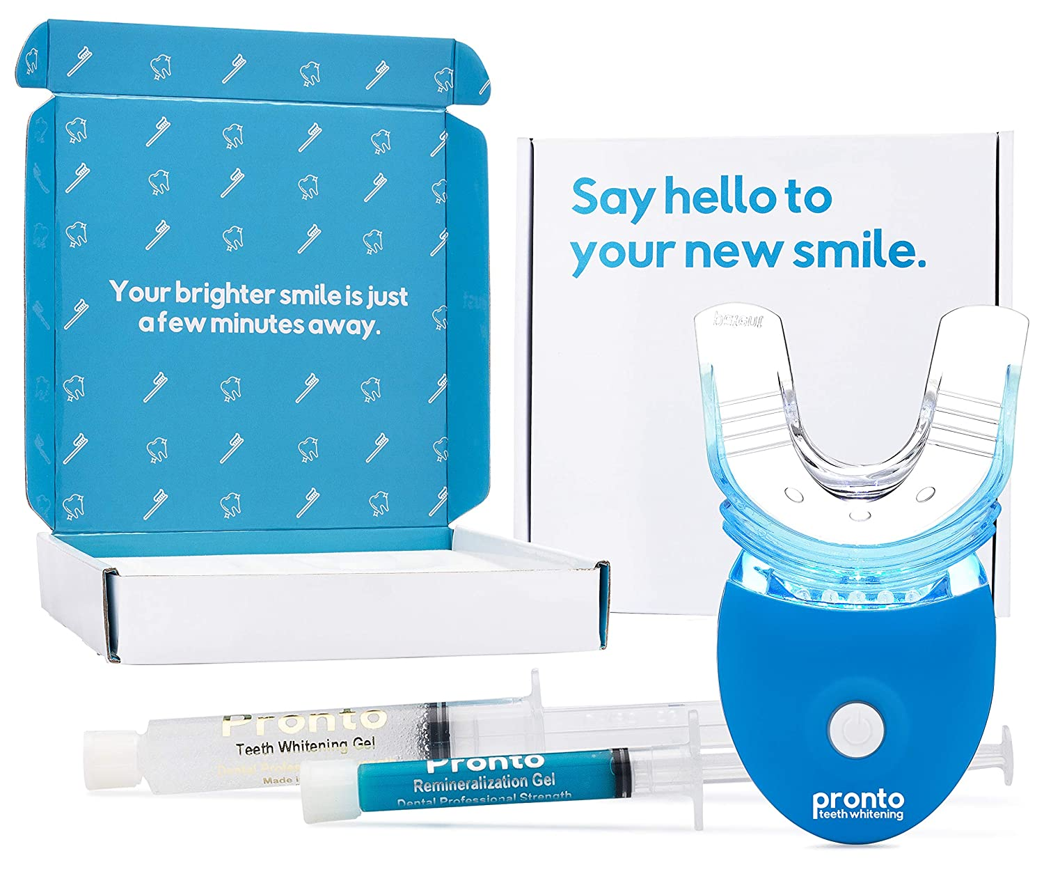 Amazon Com Pronto Teeth Whitening Kit With Led Light Whiten