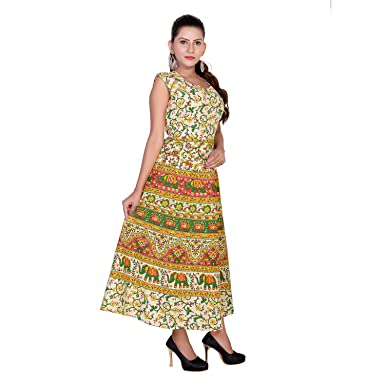c64193d8 Eagle Eye Outfitters Women's High Low Multicolor Dress: Amazon.in ...