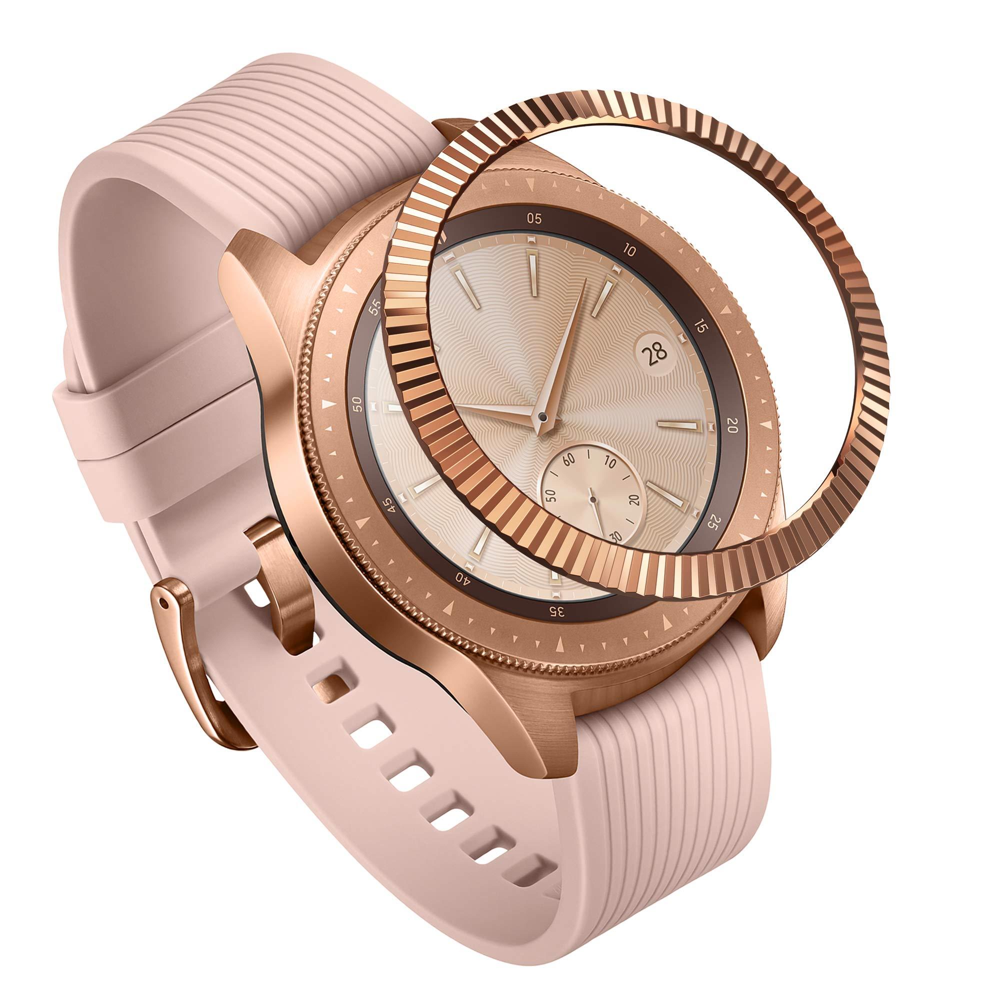 Ringke Bezel Styling for Galaxy Watch 42mm / Gear Sport Bezel Ring Adhesive Cover Anti Scratch Stainless Steel Protection [Stainless] for Galaxy Watch Accessory GW-42-06 by Ringke