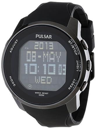 amazon com pulsar men s pq2011 stainless steel digital watch with rh amazon com Pulsar Watches Men Pulsar Watches Men