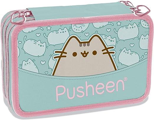 Pusheen - Estuche escolar triple con 3 cremalleras: Amazon.es: Oficina y papelería