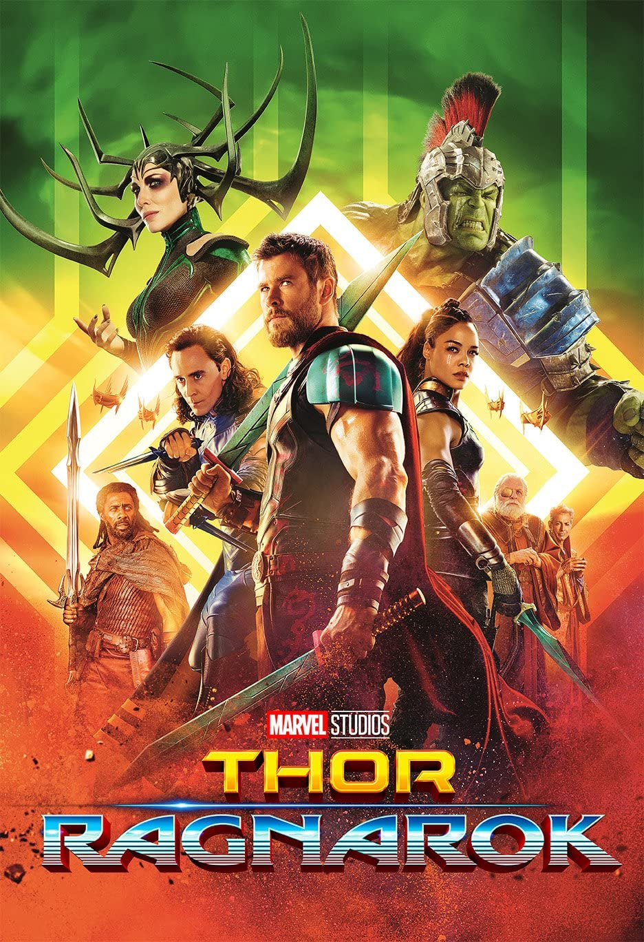 Movie Poster Thor 3 : Ragnarok (2017) - All - 13 in x 19 in Flyer Borderless + Free 1 Tile Magnet