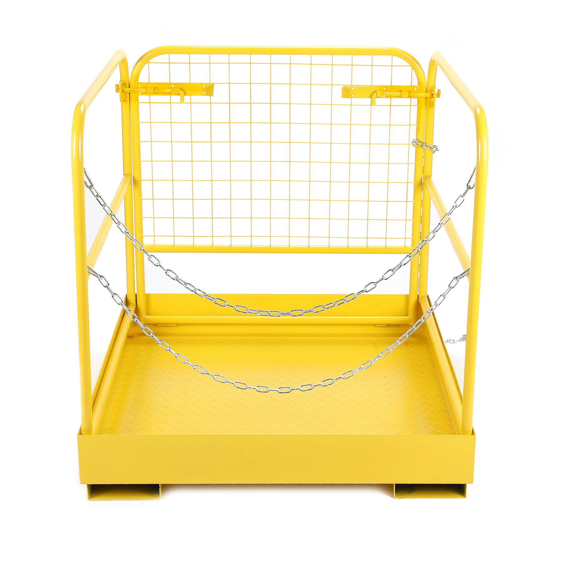 CO-Z Heavy Duty Forklift Safety Cage Steel Work Platform 749 lb. Capacity, 36''x36''