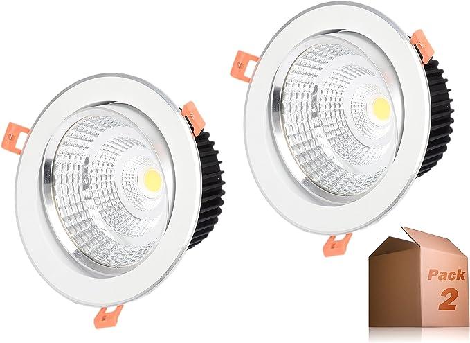 Foco Downlight LED 5W (Pack 2) Aro Blanco Cálido 3000k ONSSI LED ...