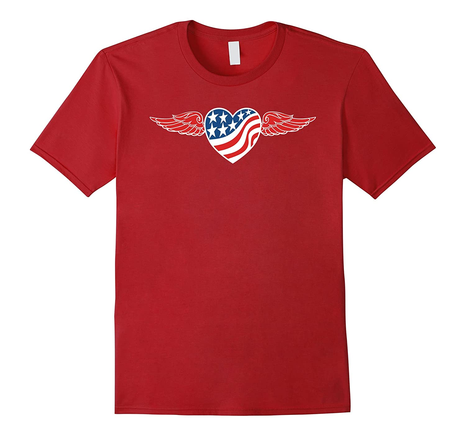 American Flag Heart with Red Wings-BN