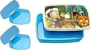 Signoraware Little Stars Plastic Lunch Box Set 3-Pieces Blue