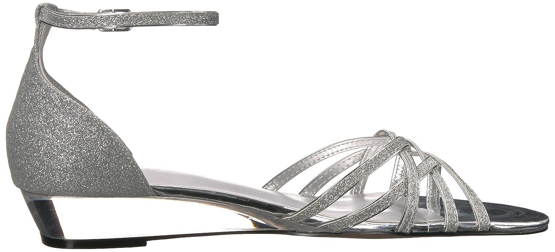 Easy Street Women's Tarrah Wedge Sandal B077ZJXCCT 9.5 B(M) US|Silver Glitter