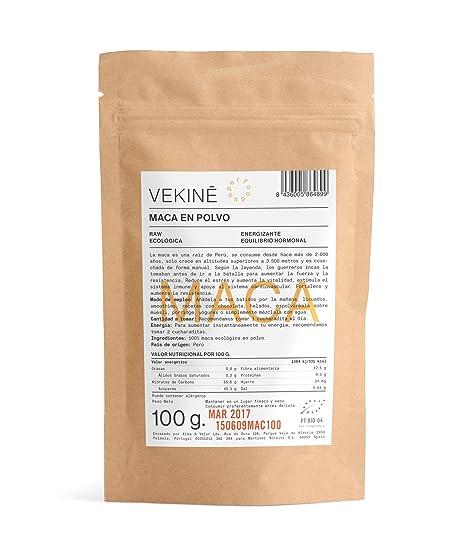 Maca Ecológica en polvo 100 gr | La mejor calidad | Superalimentos VEKINE Health Movement!: Amazon.es: Hogar