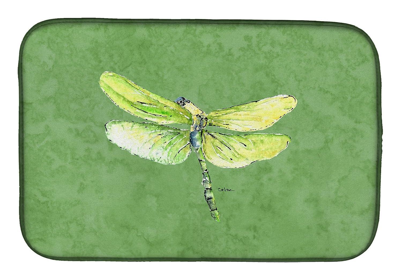 Caroline 's Treasures 8864ddm Dragonfly Onアボカドディッシュ乾燥マット、14 x 21、マルチカラー   B07BNVPTPQ