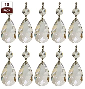 Amazon royal designs replacement chandelier crystal prism royal designs replacement chandelier crystal prism clear k9 quality tear drop almond cut with chrome connectors mozeypictures Choice Image