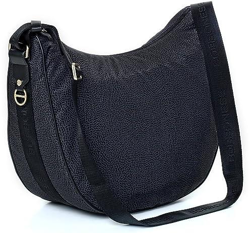 selezione premium 6ed63 a6929 Borsa a tracolla Borbonese Luna Bag medium in Jet op nero