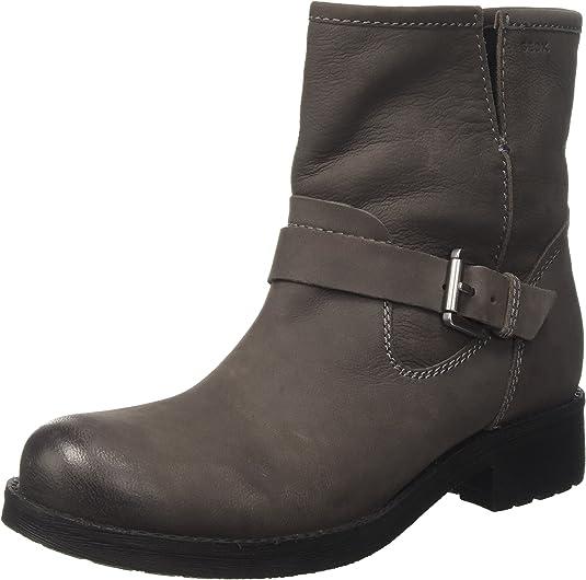 Geox Damen D New Virna E Biker Boots, schwarz ZtNot