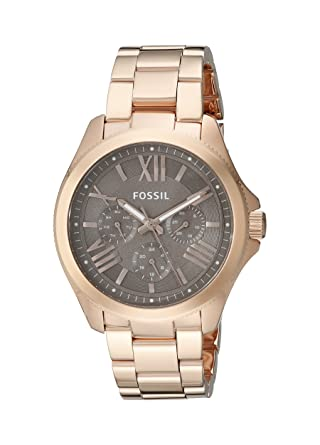 Fossil Womens AM4533 Cecile Multifunction Stainless Steel Watch - Rose Gold-Tone