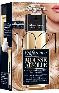 loral paris prfrence mousse absolue coloration blonde rutilisable 1021 blond trs trs clair perlescent - Coloration Rutilisable