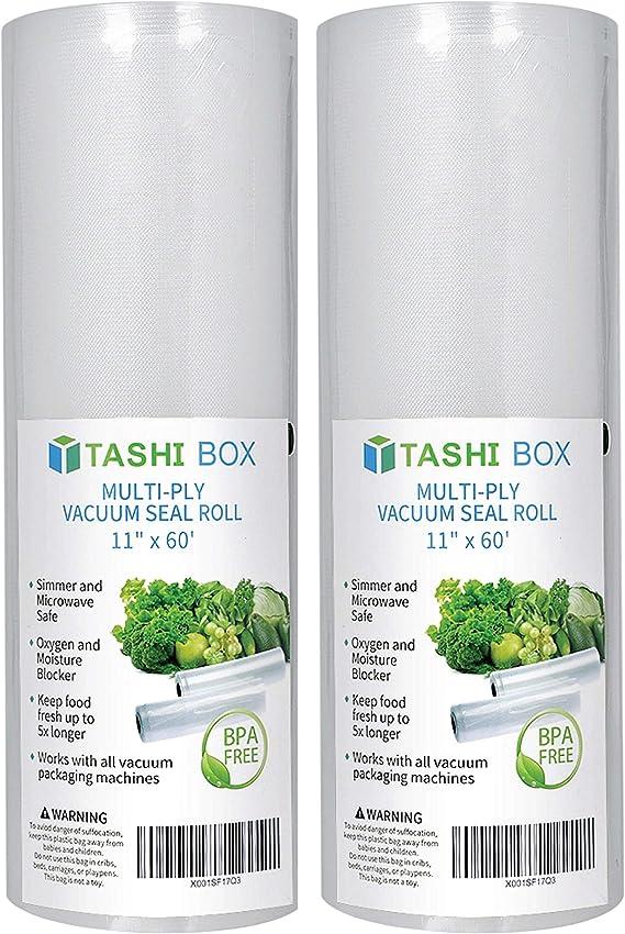 Amazon.com: TashiBox – Rollo de bolsas de sellador al vacío ...