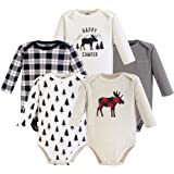 cb49efaac38f Amazon.com  Hudson Baby 3 pk Long Sleeve Bodysuits  Clothing
