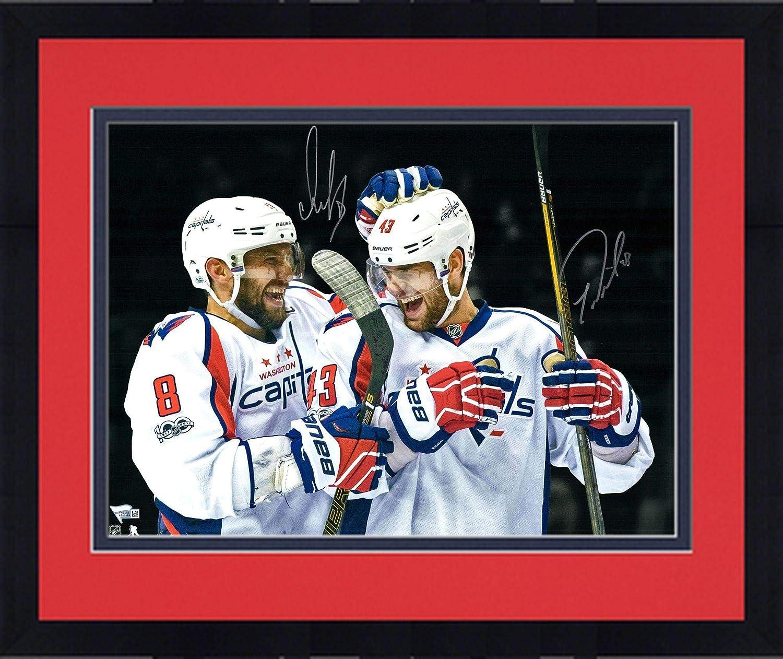 Framed Alex Ovechkin & Tom Wilson Washington Capitals Autographed 16' x 20' Spotlight Photograph - Fanatics Authentic Certified