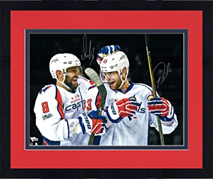 online store fcd38 970a4 Framed Alex Ovechkin & Tom Wilson Washington Capitals ...