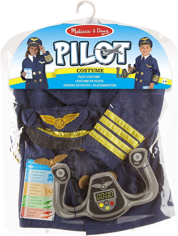 Melissa & Doug 18500 - Disfraz de piloto: Amazon.es: Juguetes y juegos
