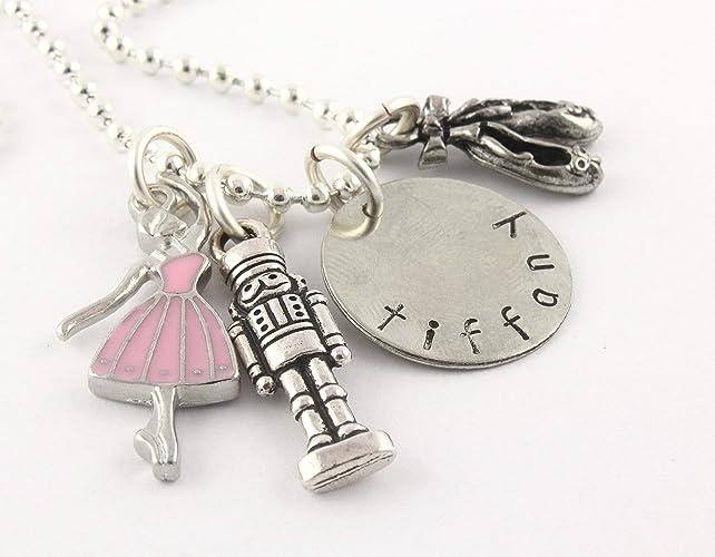6fc48427e Amazon.com: Ballet Nutcracker Silver Charm Necklace - Personalized ...