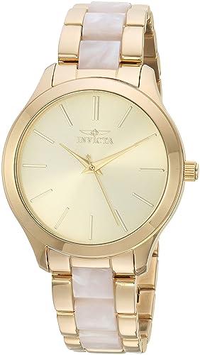 Invicta 20496 - Reloj de Pulsera Mujer, Acero Inoxidable, Color Oro: Amazon.es: Relojes