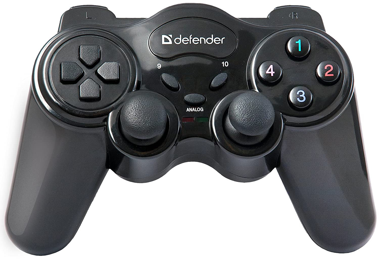 Defender GAME Master Wireless, Gamepad USB, Radio, 12 Pulsanti, Nero 64257