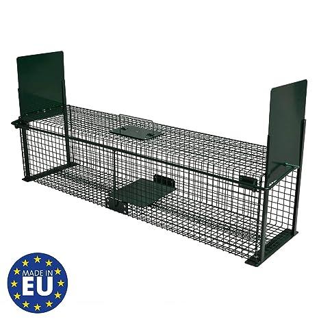 Moorland Safe 5007 - Trampa Extragrande para Animales (100 x 25 x 25 cm, con 2 entradas)