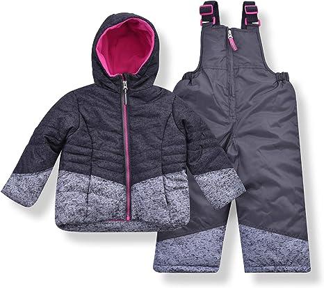 Arctic Quest Puffer Ski Jacket and Snow Bib Snowsuit Set