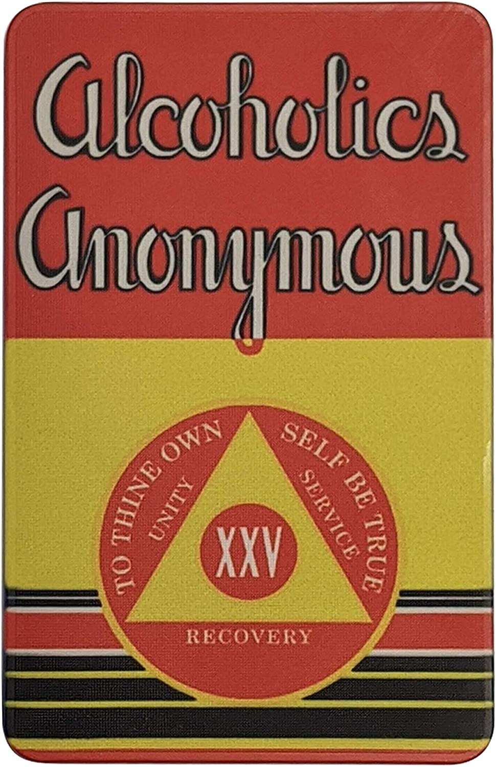 25 Year AA ChipFirst Edition Alcoholics Anonymous Big Book Sobriety Gift