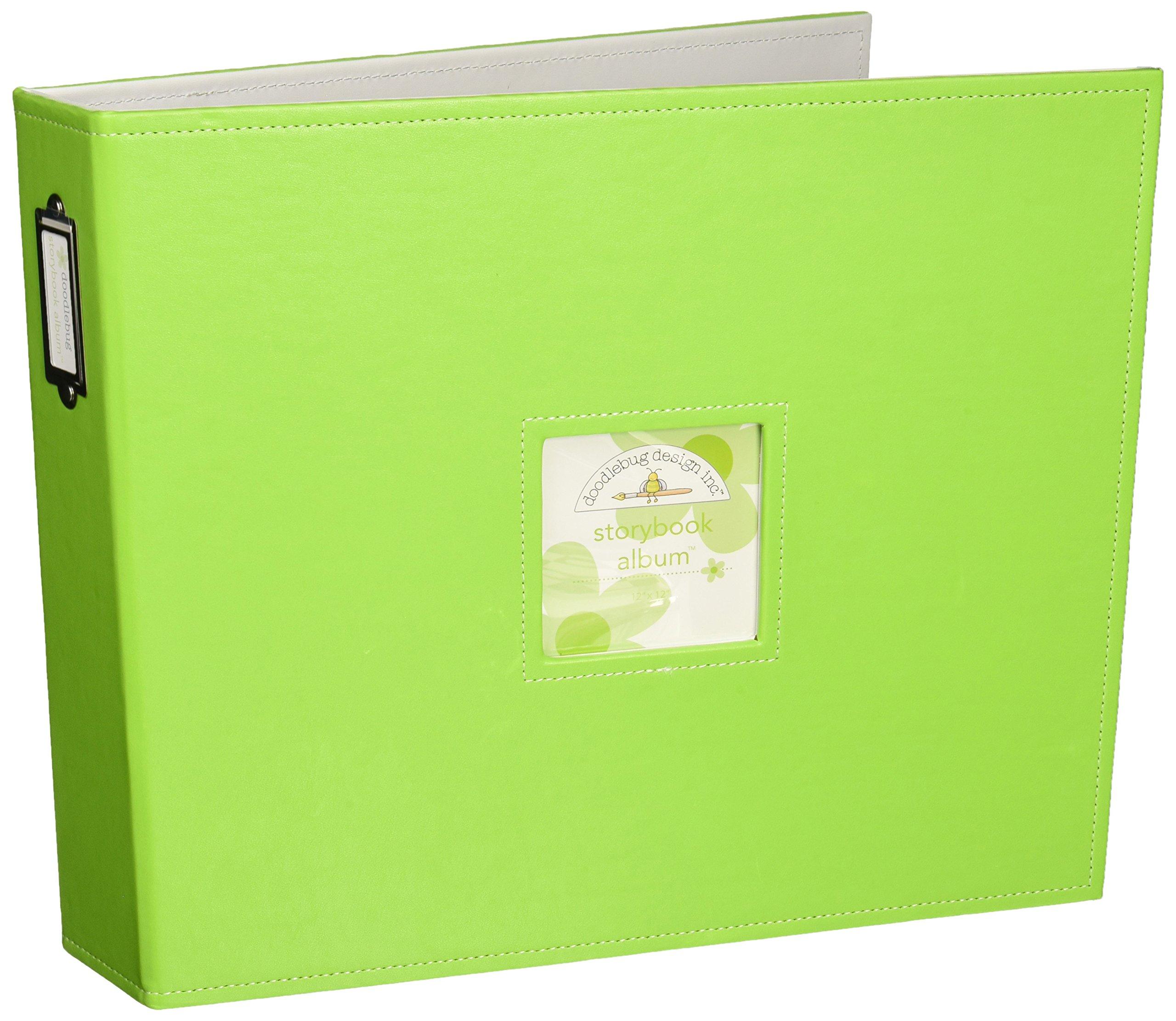Doodlebug Design Limeade Storybook for Scrapbooking Album, 12 by 12-Inch