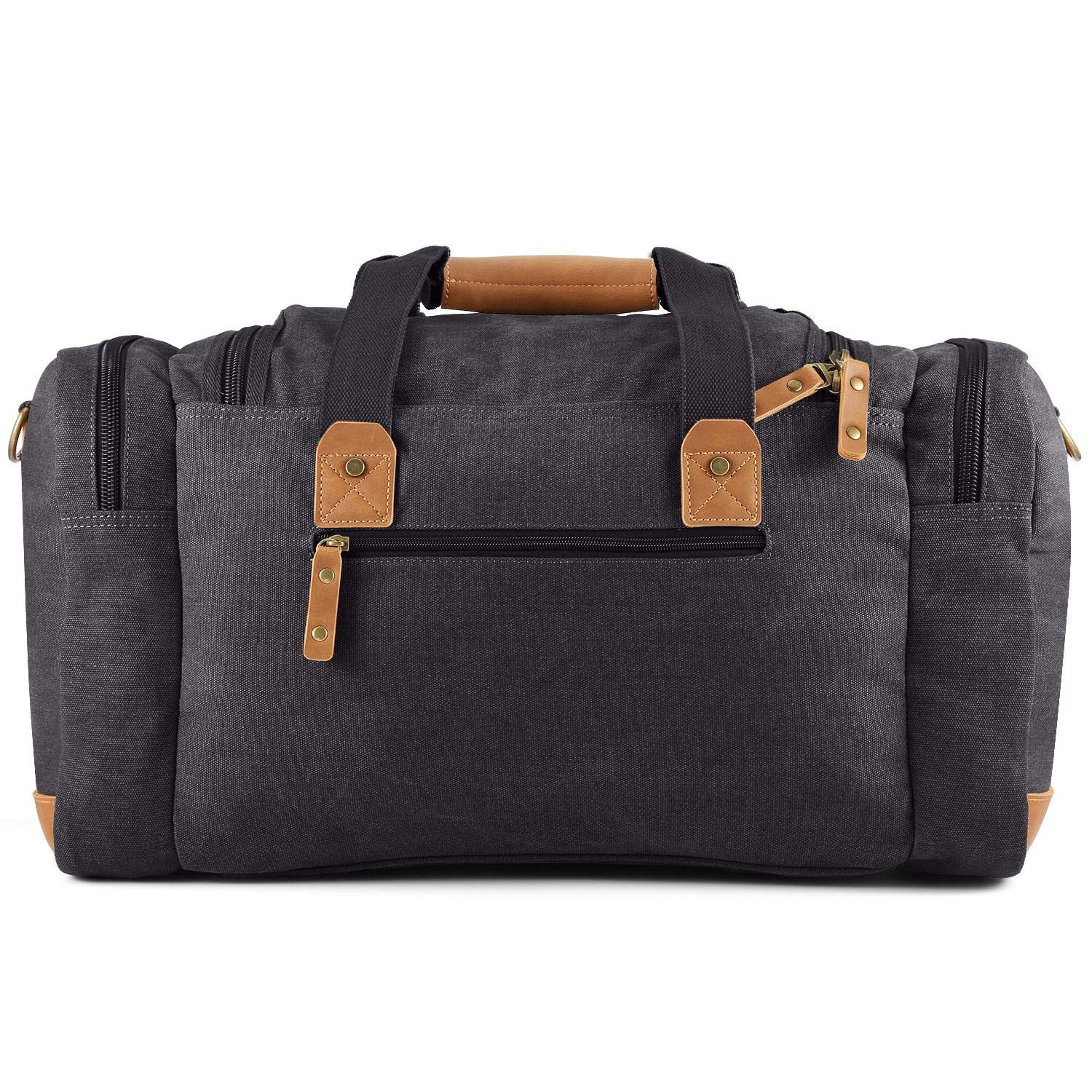 Canvas Luggage Oversized Duffel Bag Overnight Travel Tote Weekend Bag for Men and Women Dark Grey