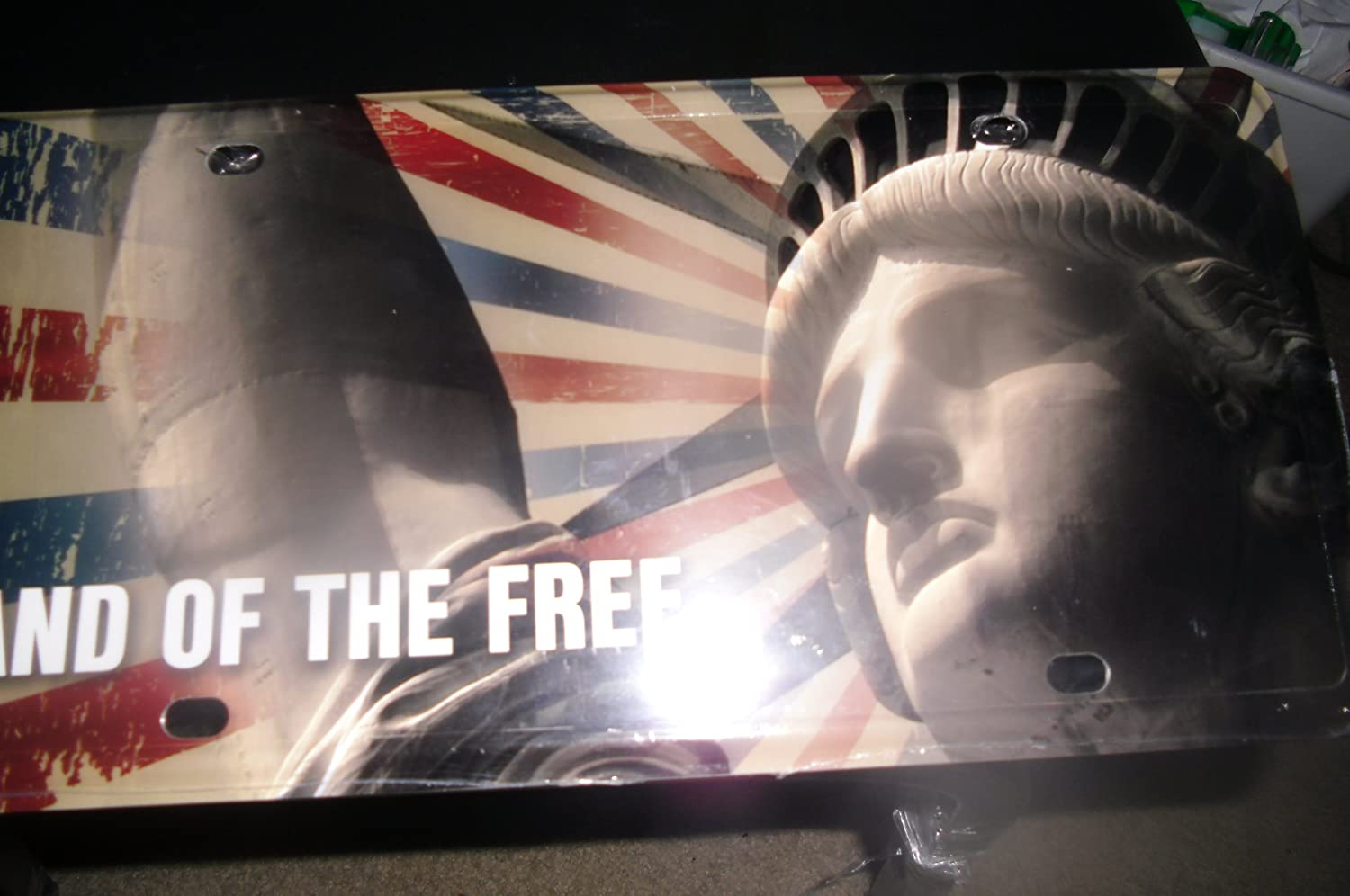 Land of the Free Licence Plate MTG statue of Liberty Logo