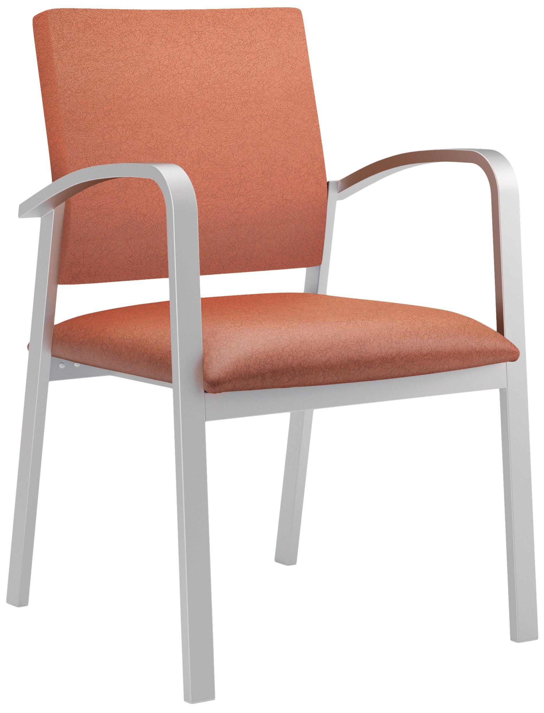 Newport Healthcare Vinyl Guest Chair, Renaissance Spice, Silver
