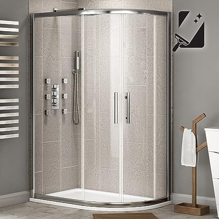 1000 x 800 mm o cama de matrimonio cuadrante deslizante fácil de limpiar cabina de mampara de ducha para esquina para puerta: iBathUK: Amazon.es: Hogar