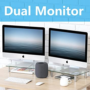 FITUEYES Soporte de escritorio doble para monitor de ordenador para Xbox One/componente/pantalla plana TV - 2 unidades, DT103803GC: Amazon.es: Oficina y ...